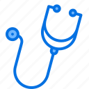 breath, doctor, heart, instrument, listen, medical, stethoscope