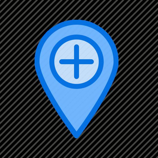 hospital, location, mark, medical, navigate, navigation, tag icon
