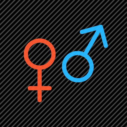 femal, gender, male, sex, sign icon