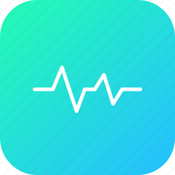cardio, ecg, heartbeat, lifeline, medical, pulse, wave icon