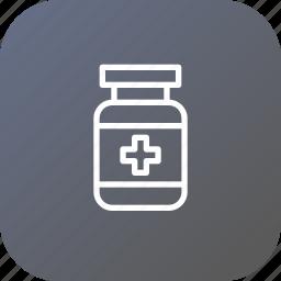 bottle, medical, medicine, pill, spirit, treatment icon