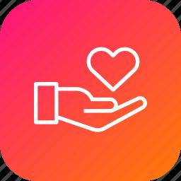 care, guardar, hand, health, life, love, medical, save icon