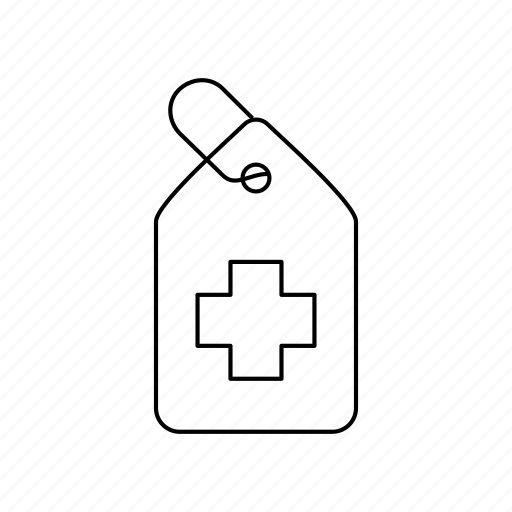 care, medical, price, sale, shopping, tag icon