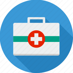 bag, briefcase, cross, kit, medical, medical kit, suitcase icon