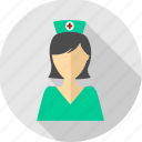 assistant, doctor, female, gyane, medical, nurse, physician icon