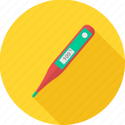 fever, fever test, healthcare, medical, medical care, temperature, thermometer icon