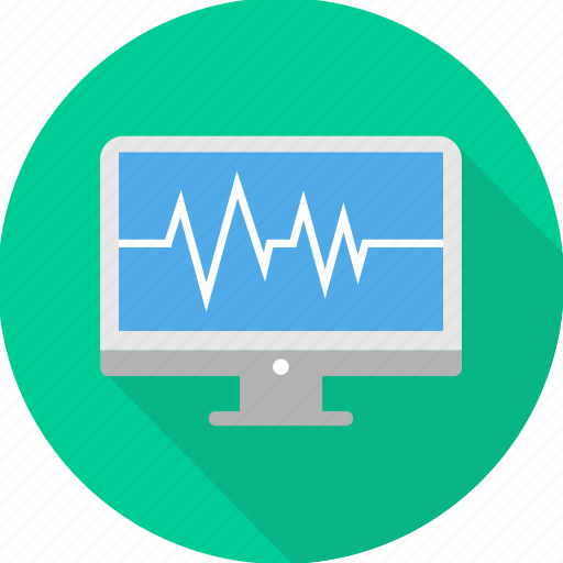 analytics, computer, diagram, ecg, ekg, monitor, pulse icon
