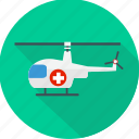 emergency, helicopter, medical, medical flight, medical helicopter, medical rescue icon