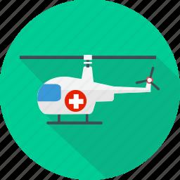 emergency, helicopter, medical, medical flight, medical helicopter, medical rescue icon