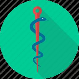 asclepius, health, healthcare, hospital, medical, medical logo, sign icon