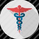 hermes, logo, medical, asclepius, caduceus, healthcare, hospital icon