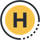 health sign, healthcare, hospital, hospital symbol, letter h icon