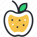 apple, diet, food, fruit, healthy food icon