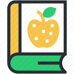 book, diet book, diet guide, health book, nutrition book icon
