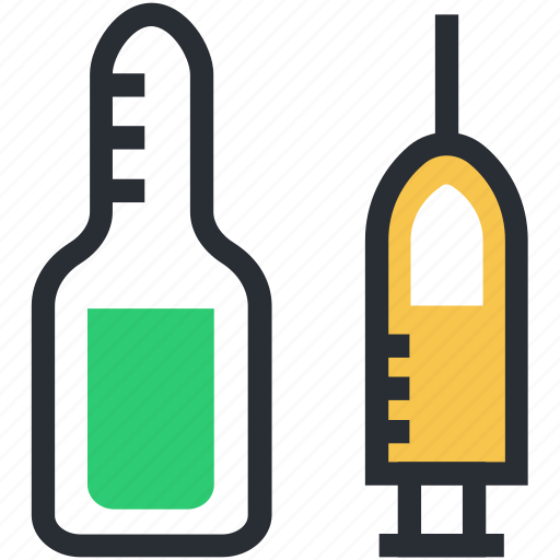 injecting, injection, intravenous, syringe, vaccine icon
