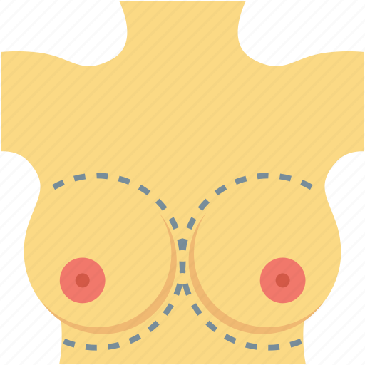 body parts, breast, chest, waistline, woman body icon