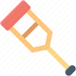 crutch, disabled, fracture, mobility aid, walking stick icon