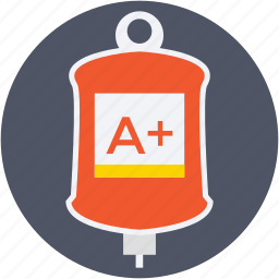 a+ blood group, blood transfusion, infusion drip, iv drip, saline drip icon