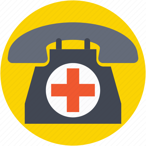 call, emergency call, hospital helpline, receiver, telephone icon