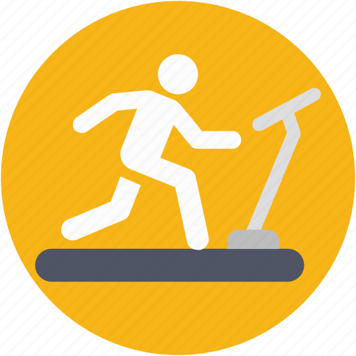 fitness, gym, jogging machine, running machine, treadmill icon