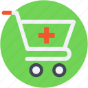 medicine purchasing, medicine supply, pharmacy, pharmacy cart, pharmacy logo icon