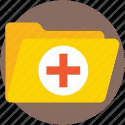 documents, files, folder, hospital record, medical folder icon