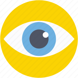 body organ, eye, human eye, human organ, view icon