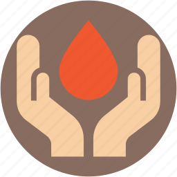 blood aid, blood donation, blood drop, drop, hands icon
