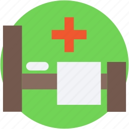 clinic, hospital, hospital bed, hospital room, patient bed icon