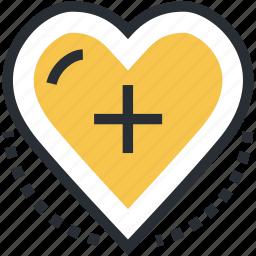 cardiology, healthcare, heart, heart aid, heart care icon