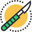 knife, scalpel, lancet, scalpel knife, surgical knife icon