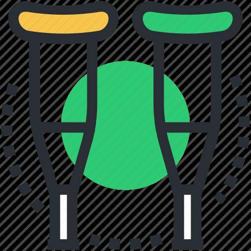 crutch, elbow crutch, medical supplies, mobility aid, walking stick icon