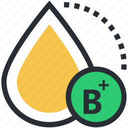 b positive blood, blood category, blood drop, blood group, blood type icon