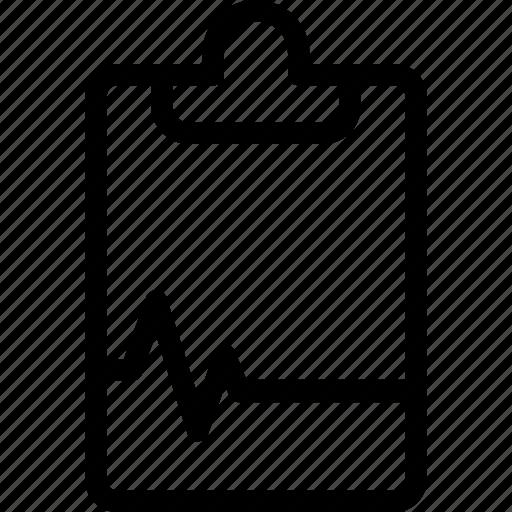 clipboard, ecg, ecg report, prescription, report icon
