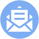 envelope, letter, message, open letter