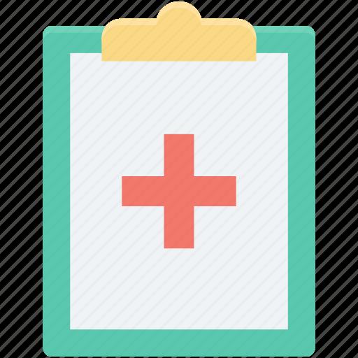 clipboard, medical report, medication, patient report, prescription icon