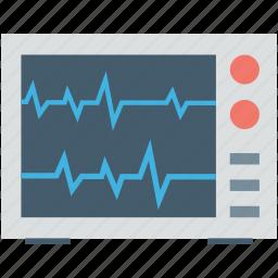 ecg, ecg machine, ecg monitor, ekg, electrocardiogram icon
