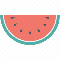 diet, food, fruit, watermelon, watermelon slice icon