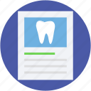 dental checkup, dental prescription, dental report, medical report, prescription icon