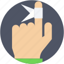 bandage, finger, finger bandage, finger injury, medical dressing icon