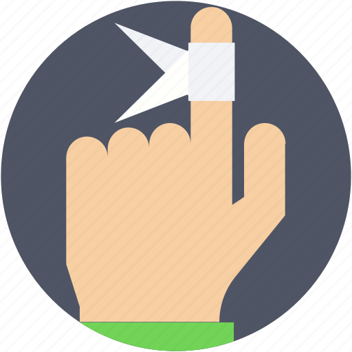 bandage, finger, finger bandage, finger injury, medical dressing icon