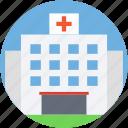 building, health clinic, hospital, medical center, medical facility icon