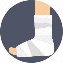 feet plaster, foot, fracture, injury plaster, limb plaster icon