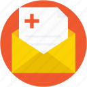envelope, medical, medical report, patient report, prescription icon