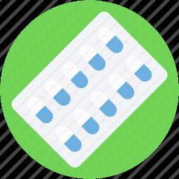 capsule, drugs, medical pills, medication, pills strip icon