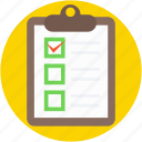 checklist, clipboard, diet chart, diet plan, list icon