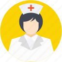 avatar, doctor, female nurse, medical assistant, nurse icon