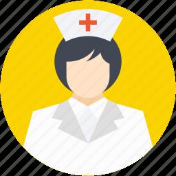 avatar, doctor, female nurse, medical assistant, nurse icon