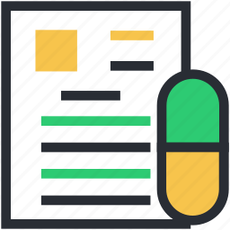 clipboard, medical report, medications, medicine chart, prescription icon