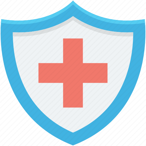 health protection, healthcare, hospital care, medical care, shield icon